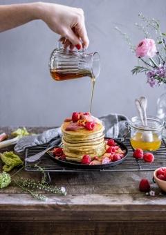 Ricotta-Pancakes mit roasted Rabarber 18