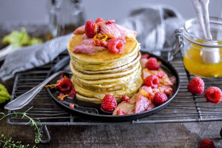 Ricotta-Pancakes mit roasted Rabarber 19